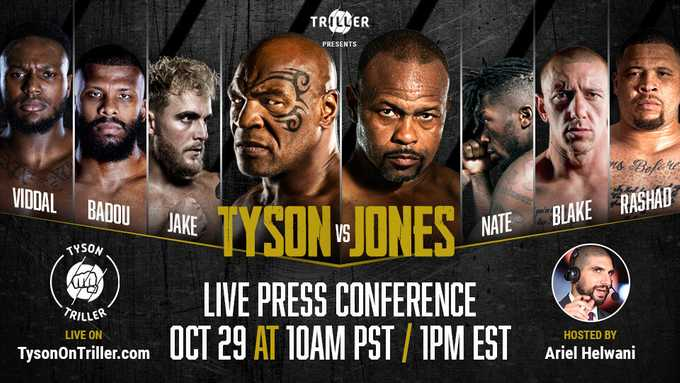 Tyson on Triller Press Conference